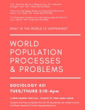 World Population Processes & Problems course flyer