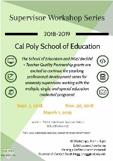 Program Impact - Common Standard 5 - School of Education - Cal Poly