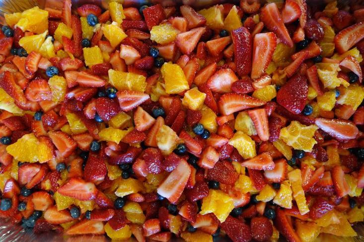 close up of fruit salad