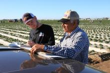 Scott and local farmer Juan Hernandez