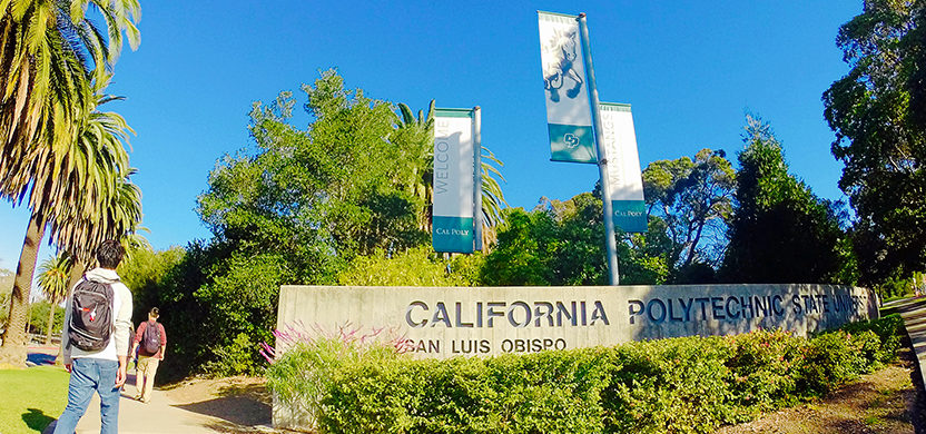 Cal Poly entrance flags