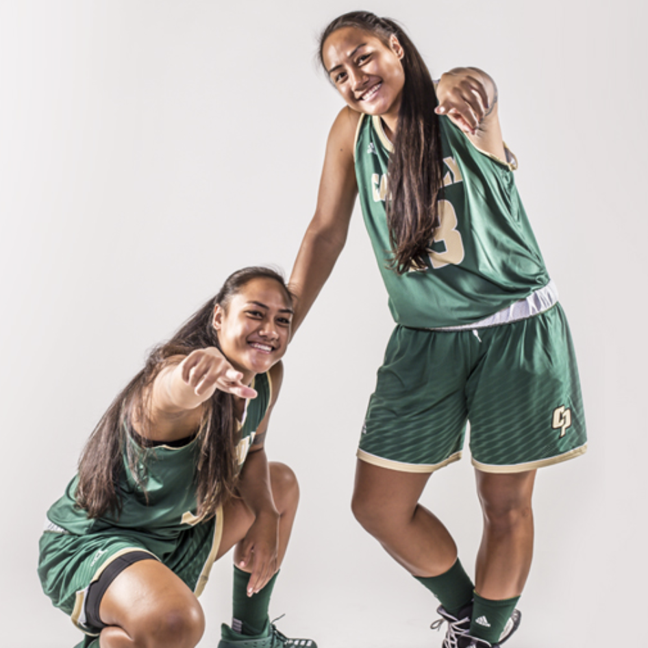 Cal Poly Women's basketball stars Dynn and Lynn Leaupepe