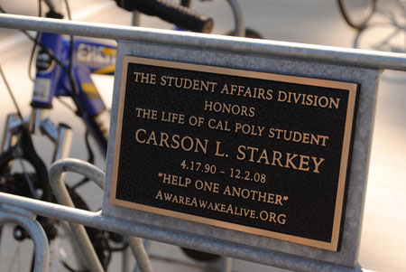 Carson Starkey Memorial Bike Rack