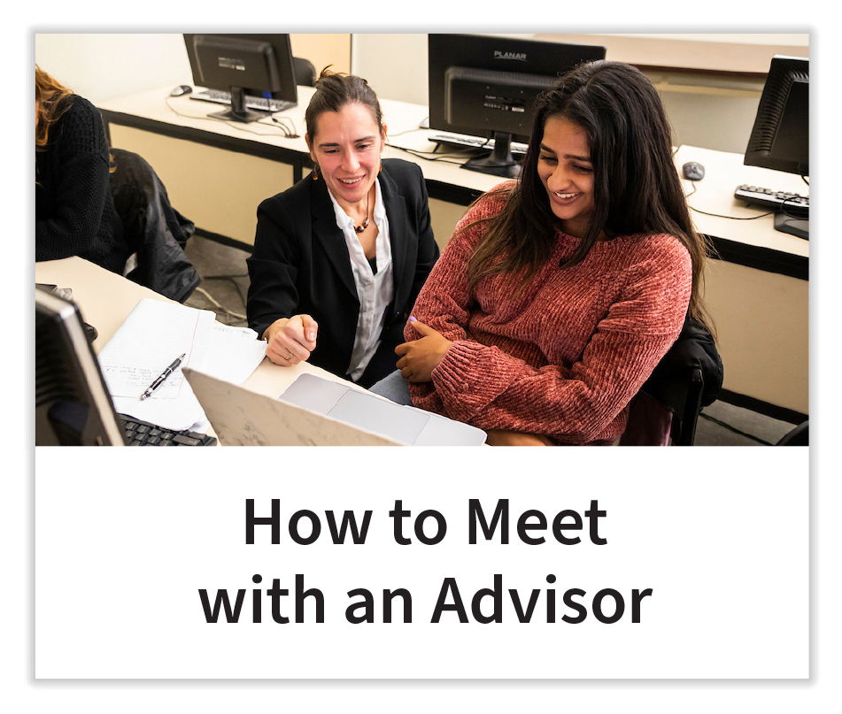 How to Meet with an Advisor Button