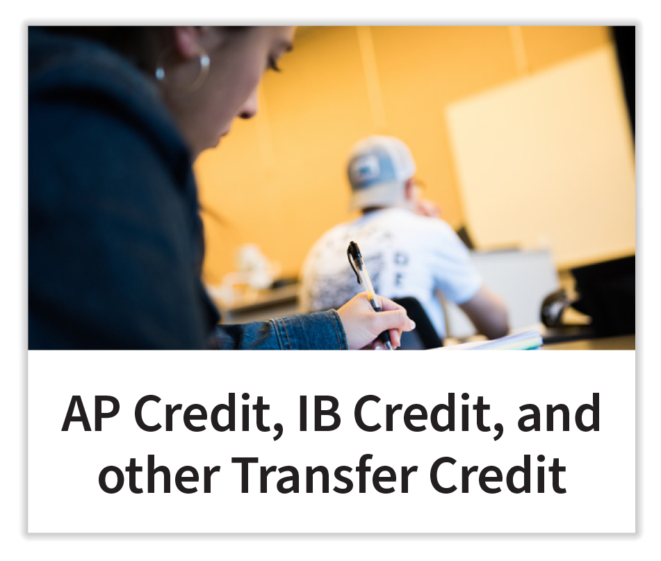 AB Credit, IB Credit, and other Transfer Credit button