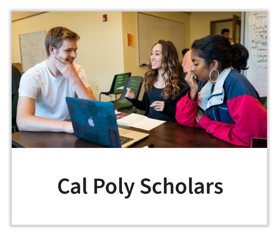 Cal Poly Scholars Button