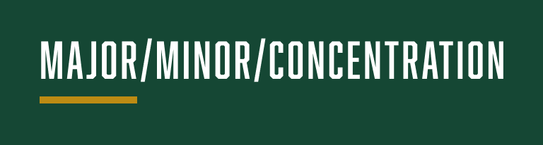 Major Minor Concentration Topic Banner