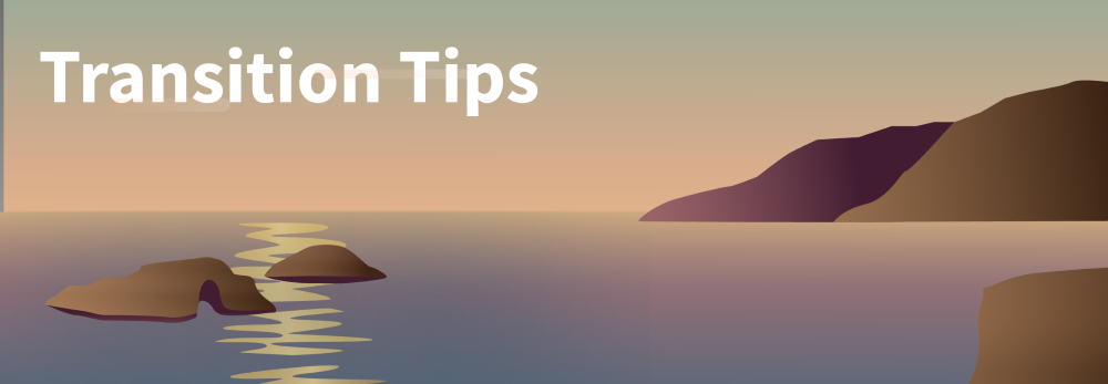 Transition Tips Banner