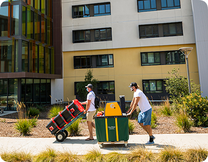 Cal Poly students moving in to University Housing