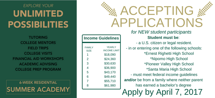 How to apply for Upward Bound