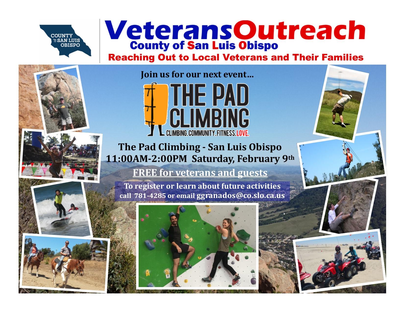 Climbing event information