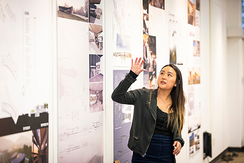 "A student from Architecture 351 (""Architectural Design"") presents her work over the past quarter."