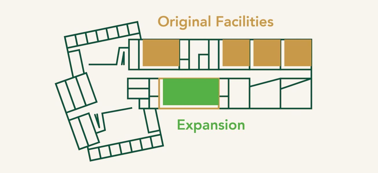 map of expanded and current section of coating facilities