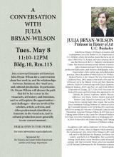 Julia Bryan Wilson event flyer