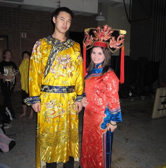 Students in traditional Chinese costume during past Chinese New Year events