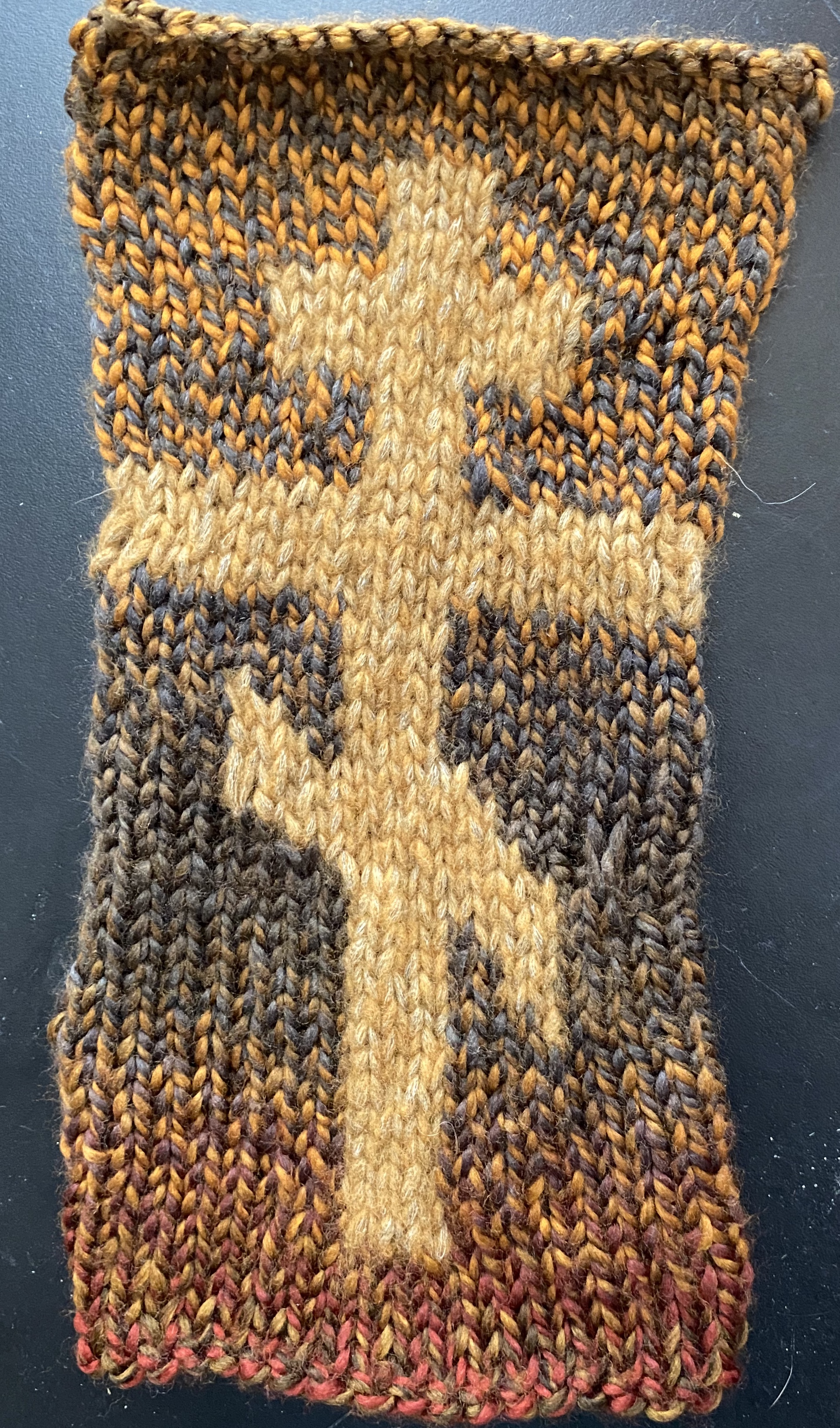 Knitted Russian Orthodox Cross