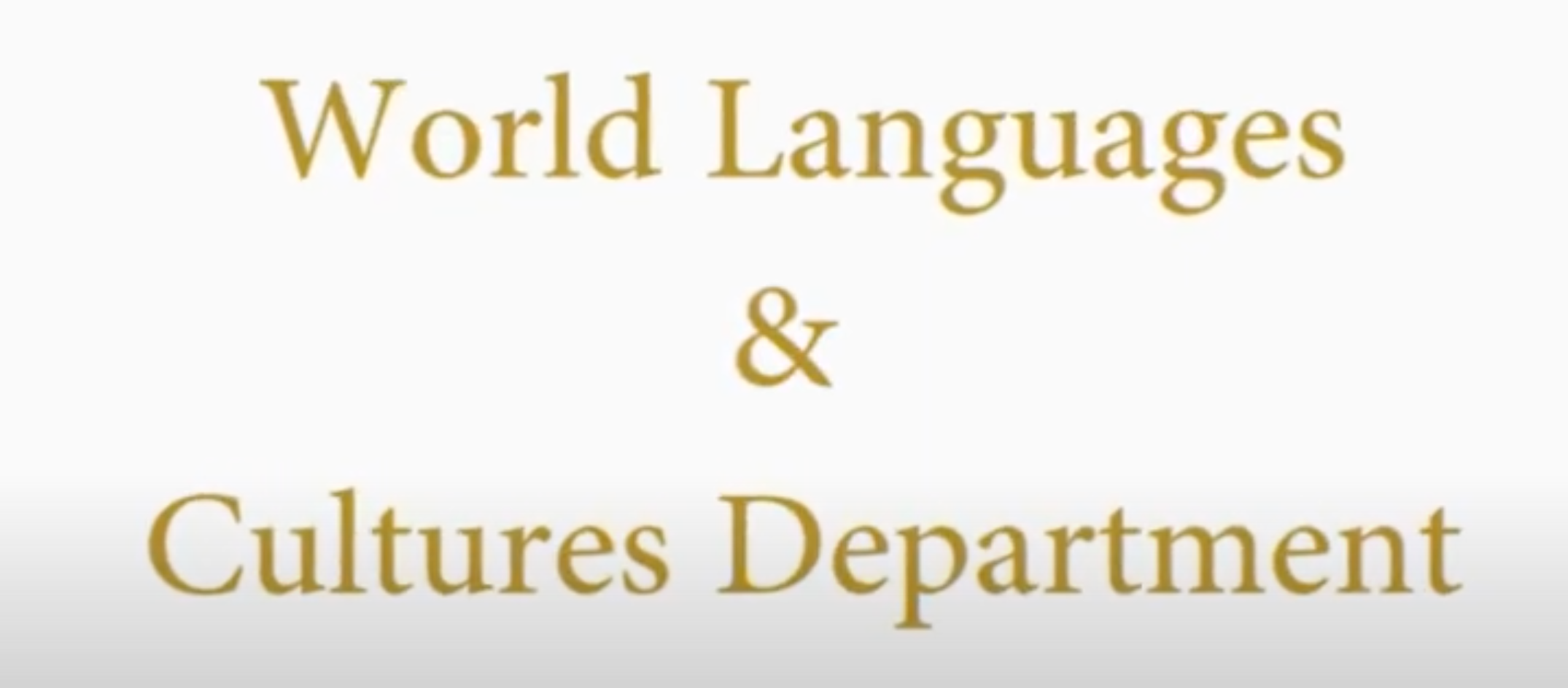 Introduction to the WLC Department