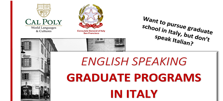 English Speaking Graduate Programs in Italy