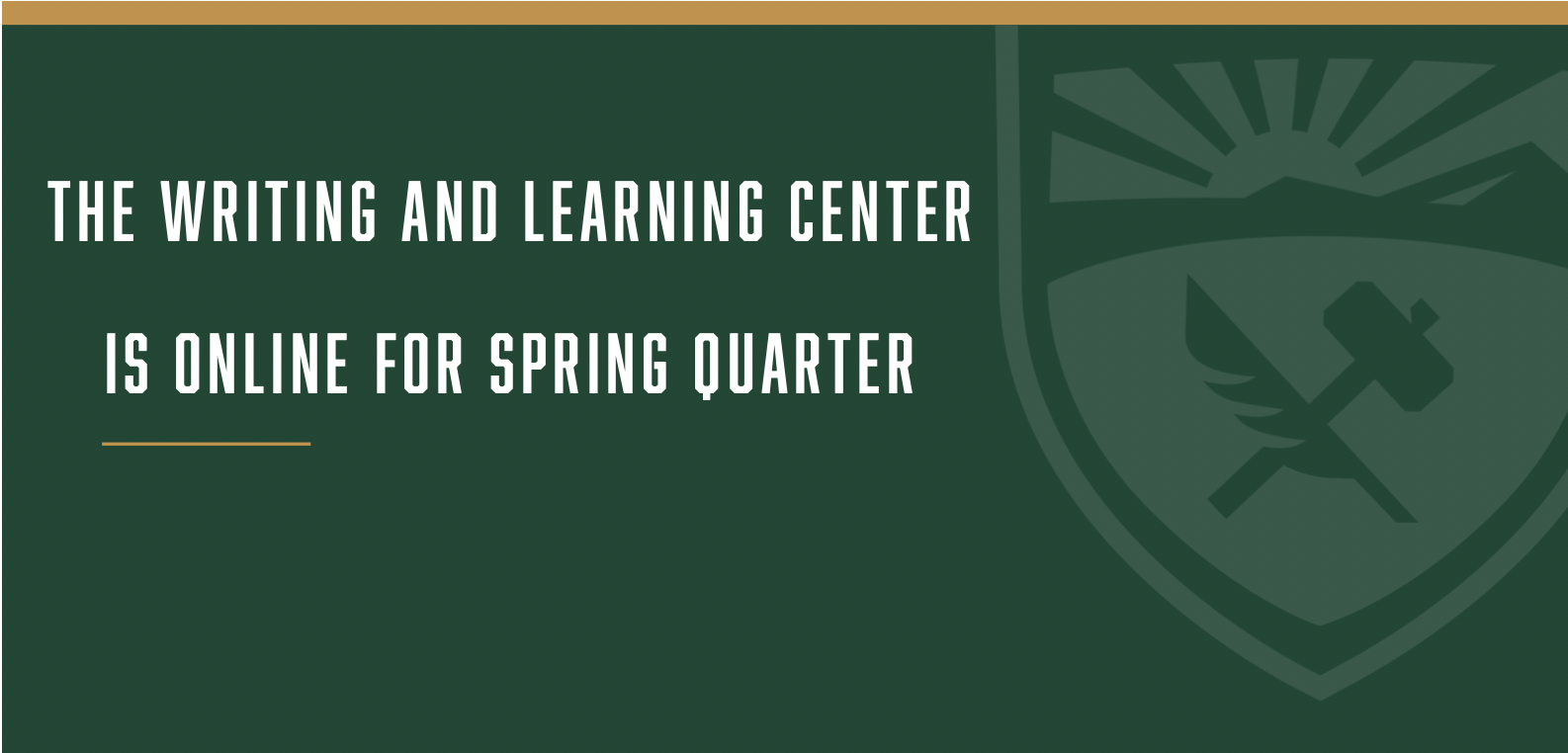 Spring quarter tutoring is available online.