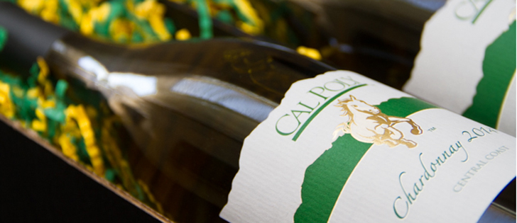 Cal Poly wine bottle
